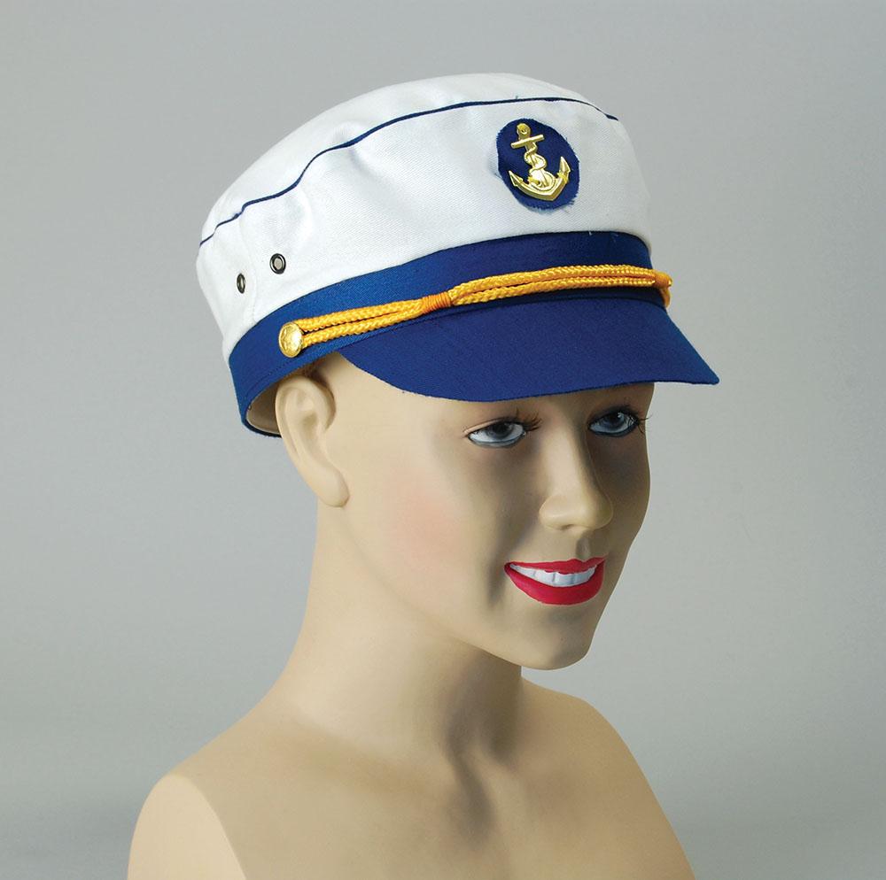 Lady Captain Hat Commander General Commadore Fancy Dress Accessory