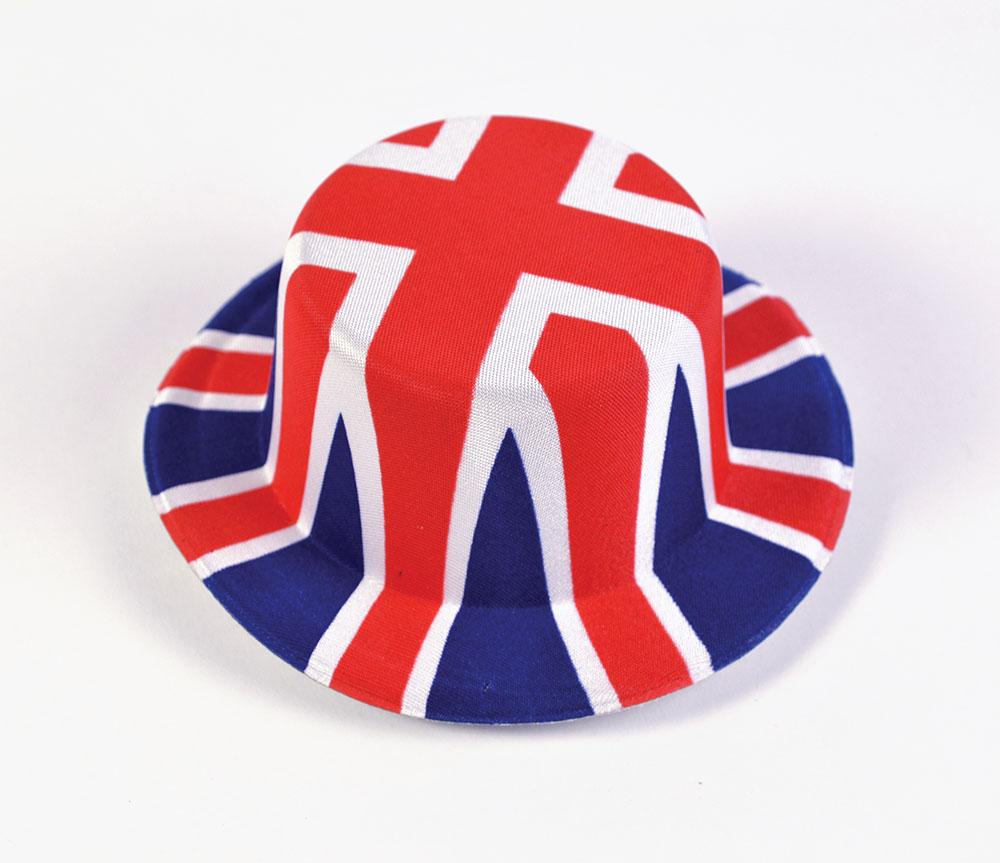 Union Jack Mini Hats (Nylon Felt) Hat Accessory for Britain Fancy Dress Hat