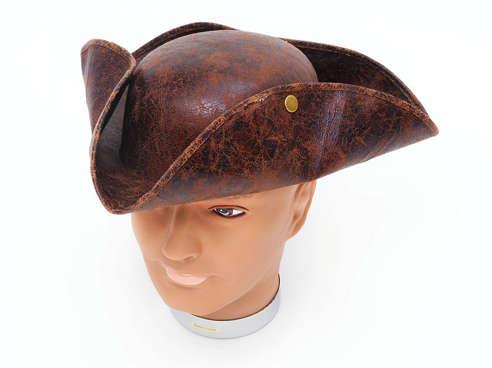 Tricorn Hat Brown Pirate Dick Turpin Fancy Dress Accessory