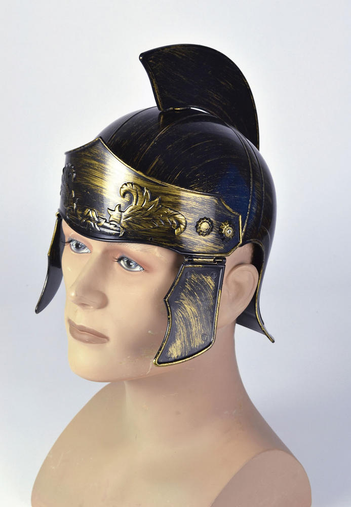 Roman Helmet Distressed Ancient Rome Greek Latin Fancy Dress Accessory