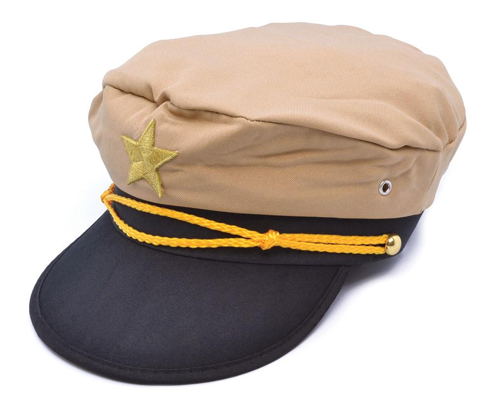 Officer Hat Military Sailor Soldier Gentlemen Fancy Dress Accessory