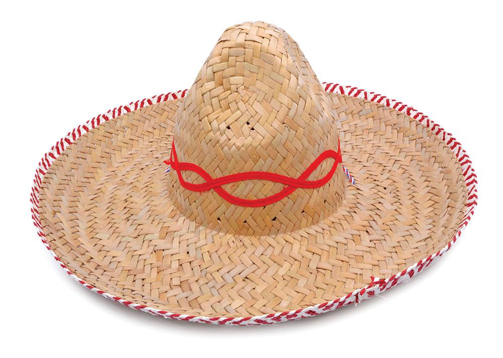 Mexican Straw Sombrero Budget Hispanic Wild West Cowboy Bandit Fancy Dress