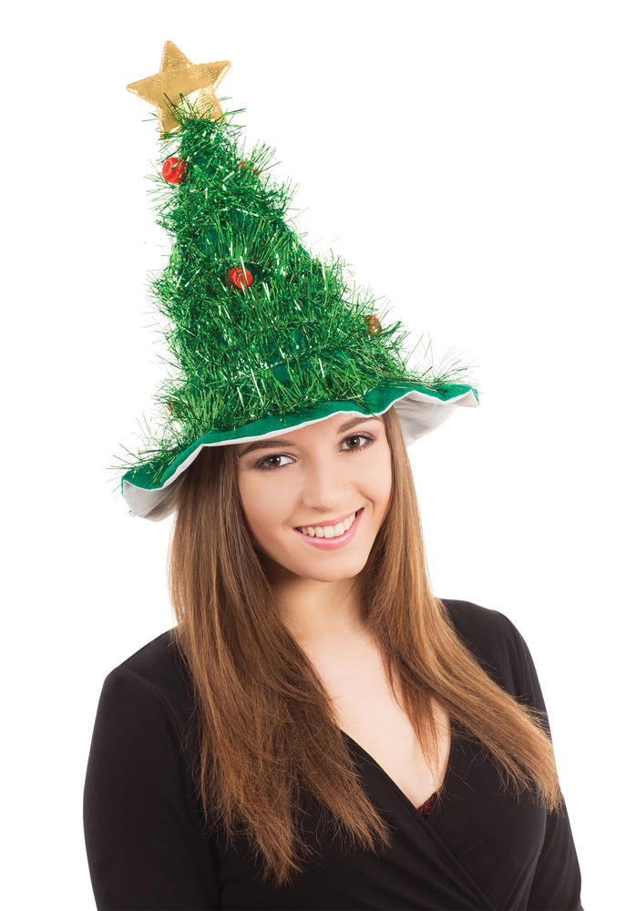Christmas Tree Hat Festive Xmas Nativity Fancy Dress Accessory