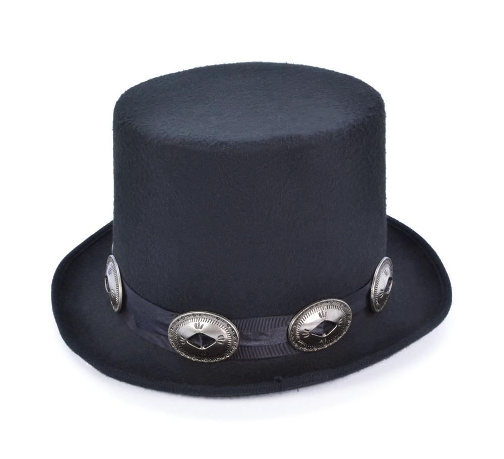 Top Hat Rocker style Hat for Victorian Edwardian dickensian Fancy Dress Hat