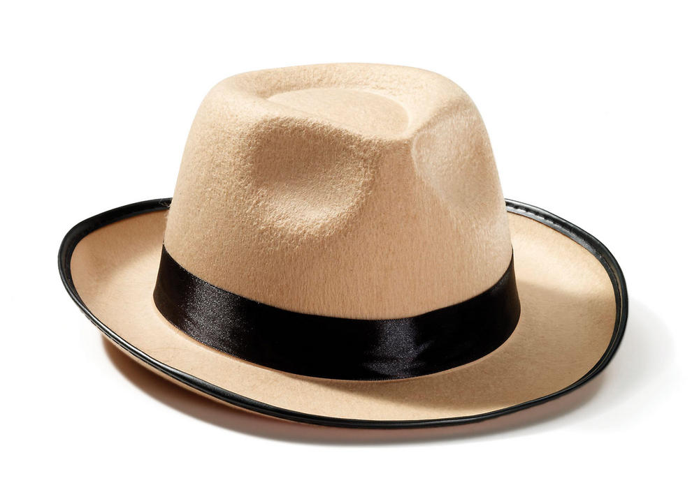 Fedora Beige 50s 60s Rockabilly Fancy Dress Accessory