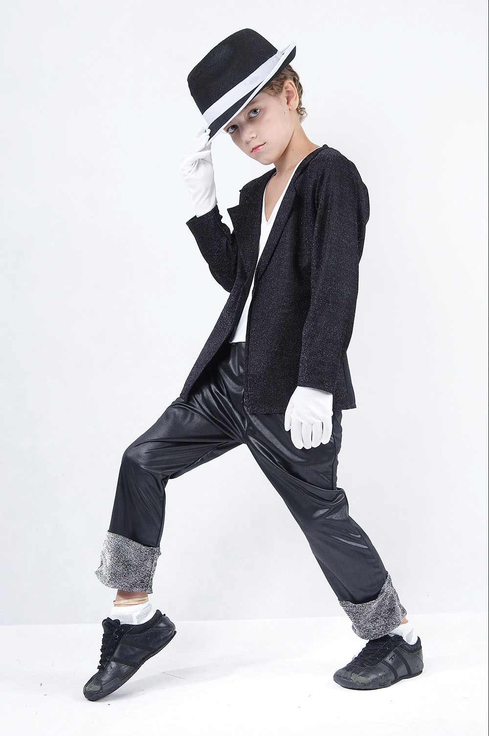 Boys Jacko 80s Superstar Black Jacket/Trousers Costume ...