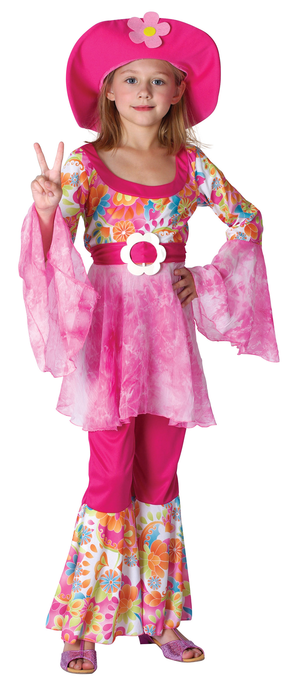 Girls Hippy Diva Costume Hippie 60s 70s Mod  sc 1 th 214 : diva costumes for kids  - Germanpascual.Com