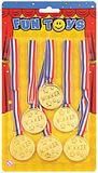 Joke Winners Medals (6 Per Card) Novelty Gag Trick Party Favor Favour