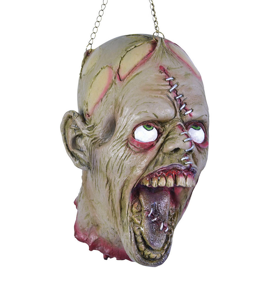 Halloween Hanging Dead Head + Stitch Face Trick Or Treat Party Decoration