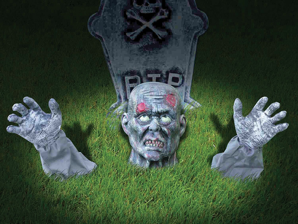 Halloween Zombie Ground Breaker Outdoor Dec for Trick Or Treat Party Decoration