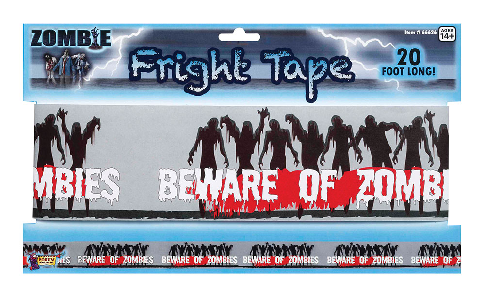 Halloween Zombie Fright Tape Trick Or Treat Party Decoration
