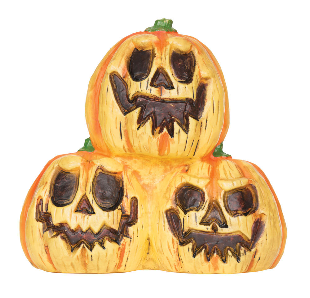 Halloween Light-Up Pumpkin Trio With Sound Trick Or Treat Party Decoration