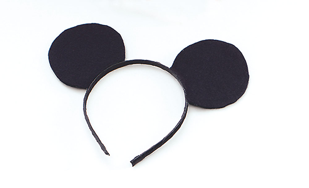 SFX Cosmetic Disguise Ears Mouse Black Felt On H'band Mickey Danger Mighty