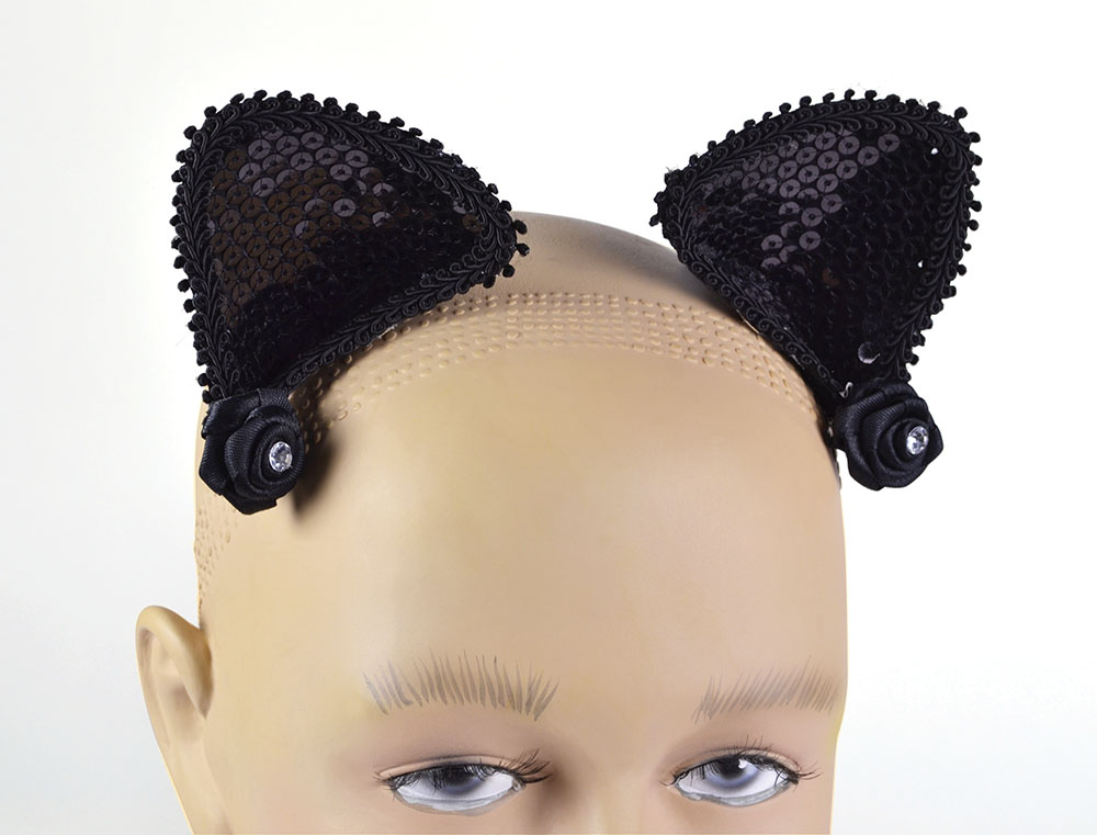 SFX Cosmetic Disguise Cat Ears on Hair Clip Feline Pussy Pet Animal Cosmetic