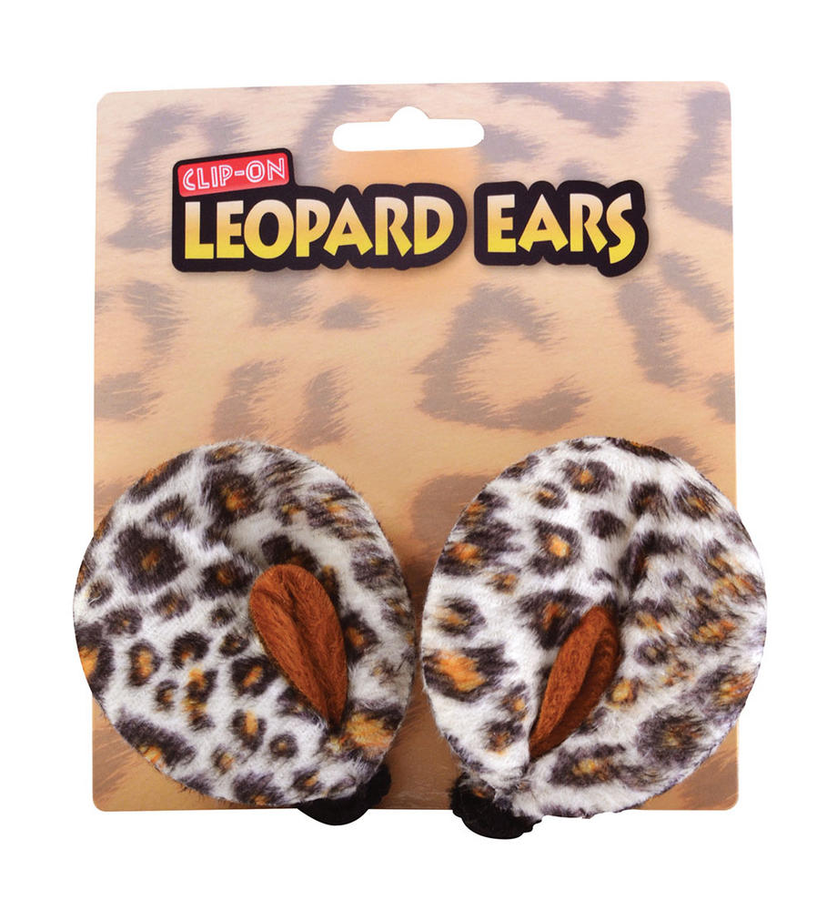 SFX Cosmetic Disguise Leopard Ears Clip On Spotty Cat Jungle Animal Cosmetics