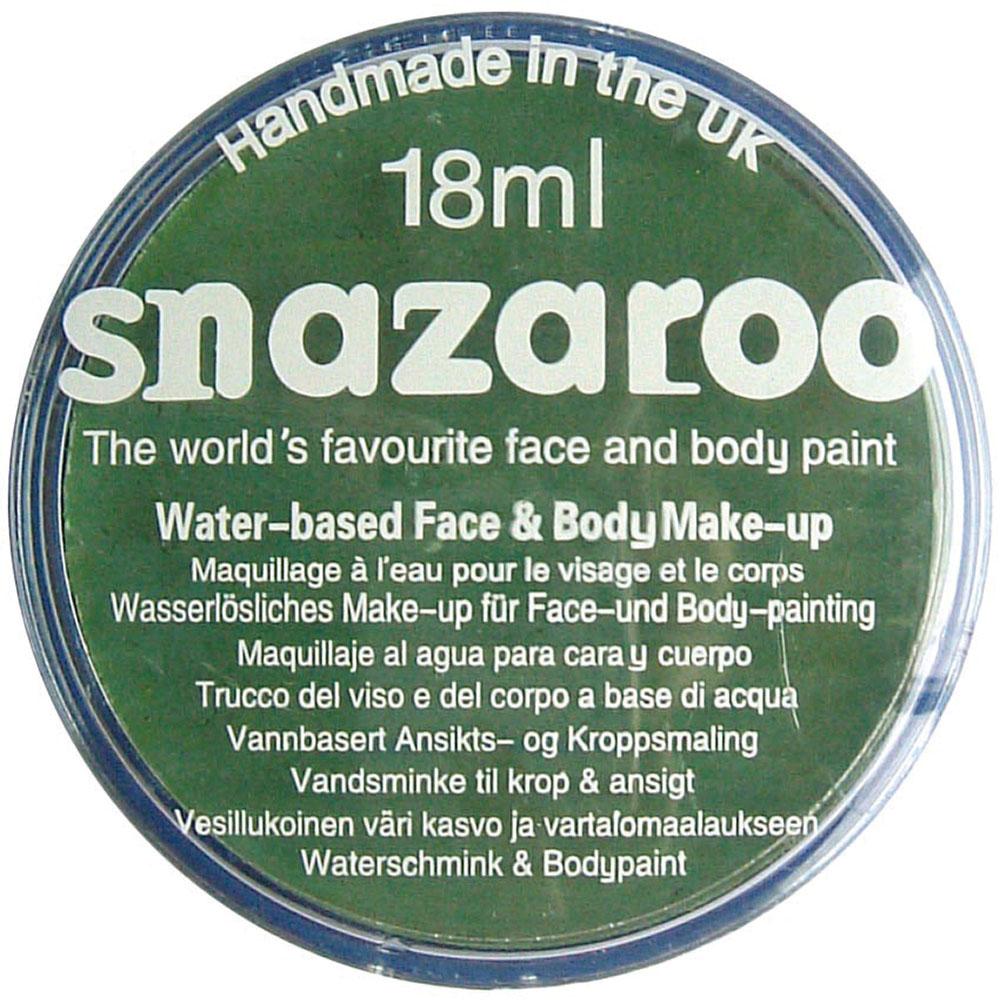 Snazaroo Grass Green 18ml Tubs Makeup Accessory for Halloween SFX Fancy Dress Ma