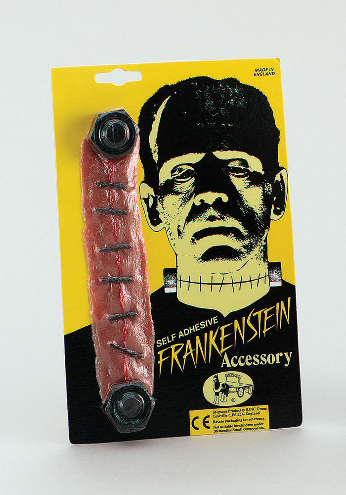 Franky Frankenstein Bolts SFX Stitched Throat Halloween Munster Cosmetic Artist