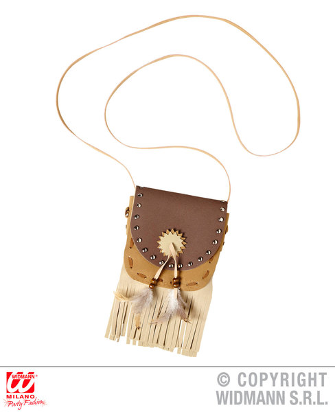 INDIAN BAG Accessory for Native Wild West American Cowboys Fancy Dress