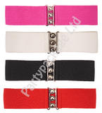Elasticated Stretch Waist Cinch Belt for 40s 50s 60s 80s Nurse Retro Rockabilly