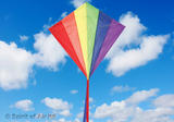Classic Diamond Rainbow Kite for Adult & Kids Outdoor Beach Camping Sports Games