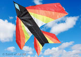 Jet Delta Flame Plane Kite for Adult & Kids Outdoor Beach Camping Sports Games