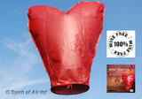 Sky Lantern Red Love Heart for Christmas New Years Valentines & Wedding Party