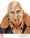 Boys ZOMBIE 3/4 OPEN MOUTH MASK TWD Halloween Living Walking Dead Fancy Dress
