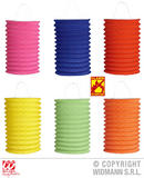 UNICOLOR LANTERN flame retardant 28 cm 6 cols ass Decoration Decoration Lampion