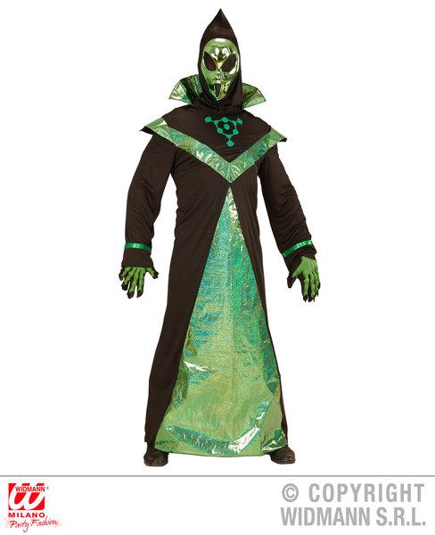 Mens ALIEN Costume for UFO Space Villian Fancy Dress Outfit