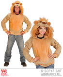 Mens LION Costume for Jungle Animal Beast Africa India Fancy Dress Outfit