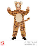 Child Unisex PLUSH TIGER Costume Indian Jungle Animal Cat Feline Fancy Dress