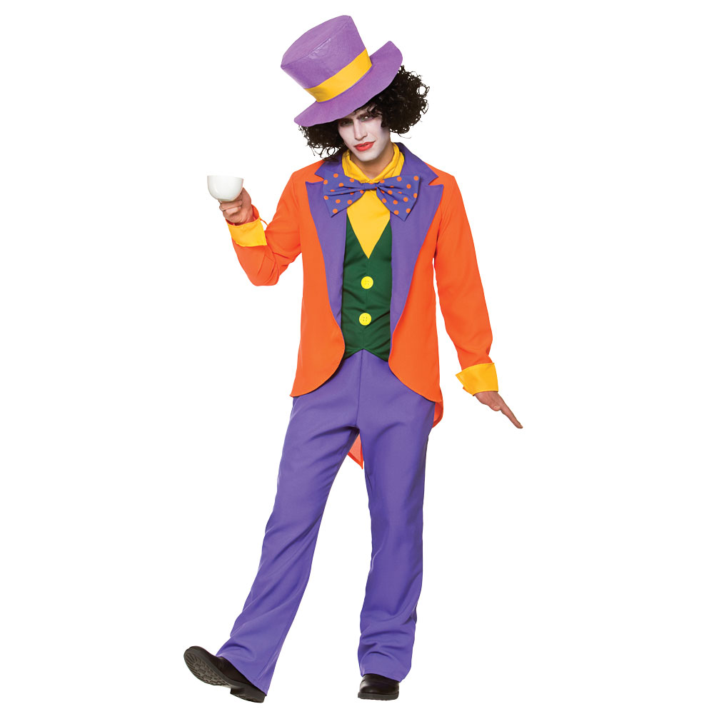 Adults Mens Fairytale Mad Hatter Costume for Fairytale Make Believe Fancy Dress