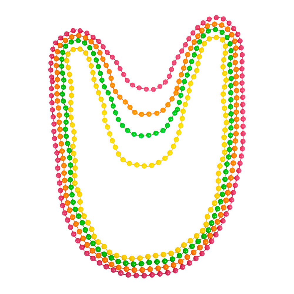 80s Neon Beads Jewellery for 80s Disco Pop Retro Fancy Dress
