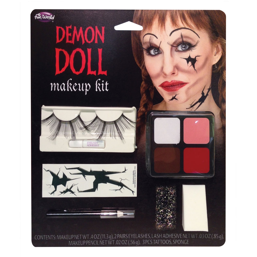 Demon Doll Kit Makeup for Halloween Zombie Murderer Cosmetics