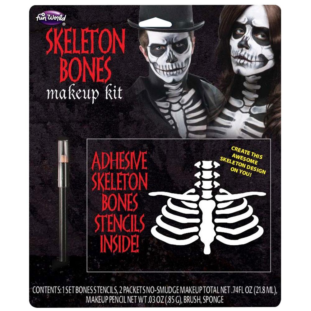 Skeleton Bones Makeup for Halloween SFX Cosmetics