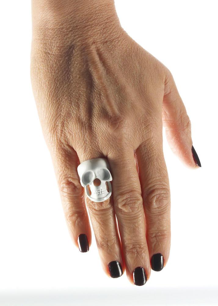 Skeleton Skull Ring Living Dead Halloween Skull Pirates Fancy Dress