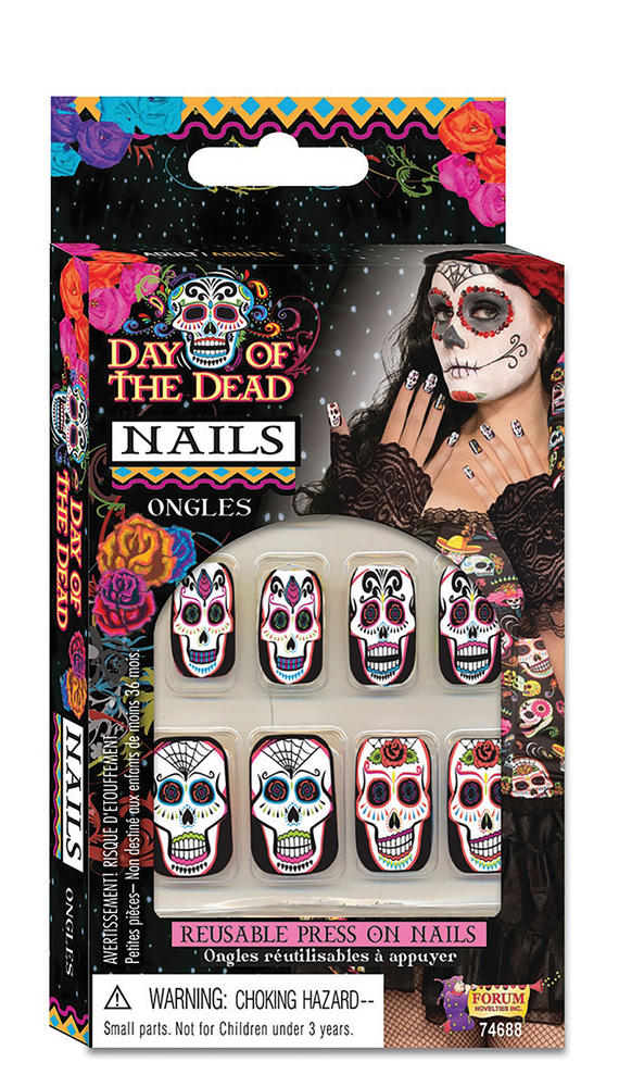 Day of the Dead Nails Walking Dead halloween Zombie Cosmetic Artist