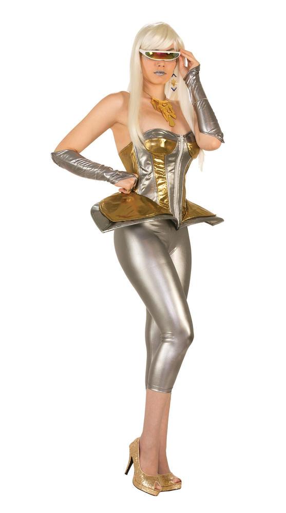 Futuristic Cyborg Glasses Space Sci-Fi Fancy Dress Accessory
