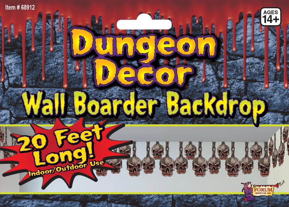 Skull Border Dungeon Decoration Skeleton Halloween Pirate Party Decoration