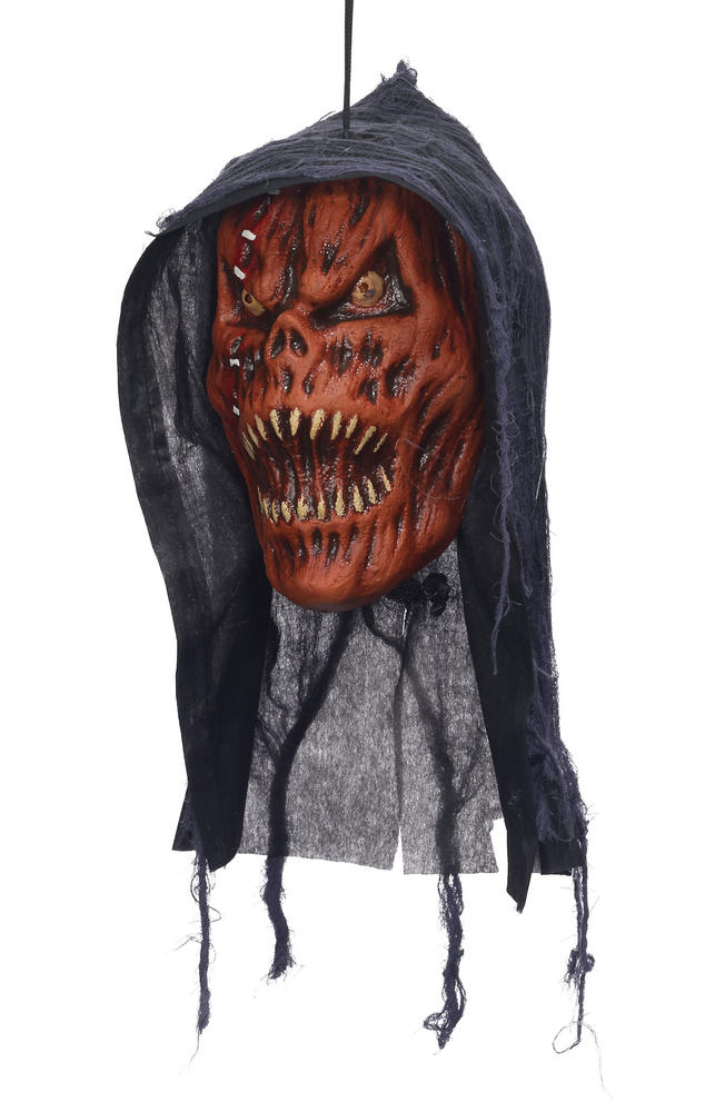 Hanging Head - Pumpkin Reaper Body Part Halloween Prop Headless Party Decoration