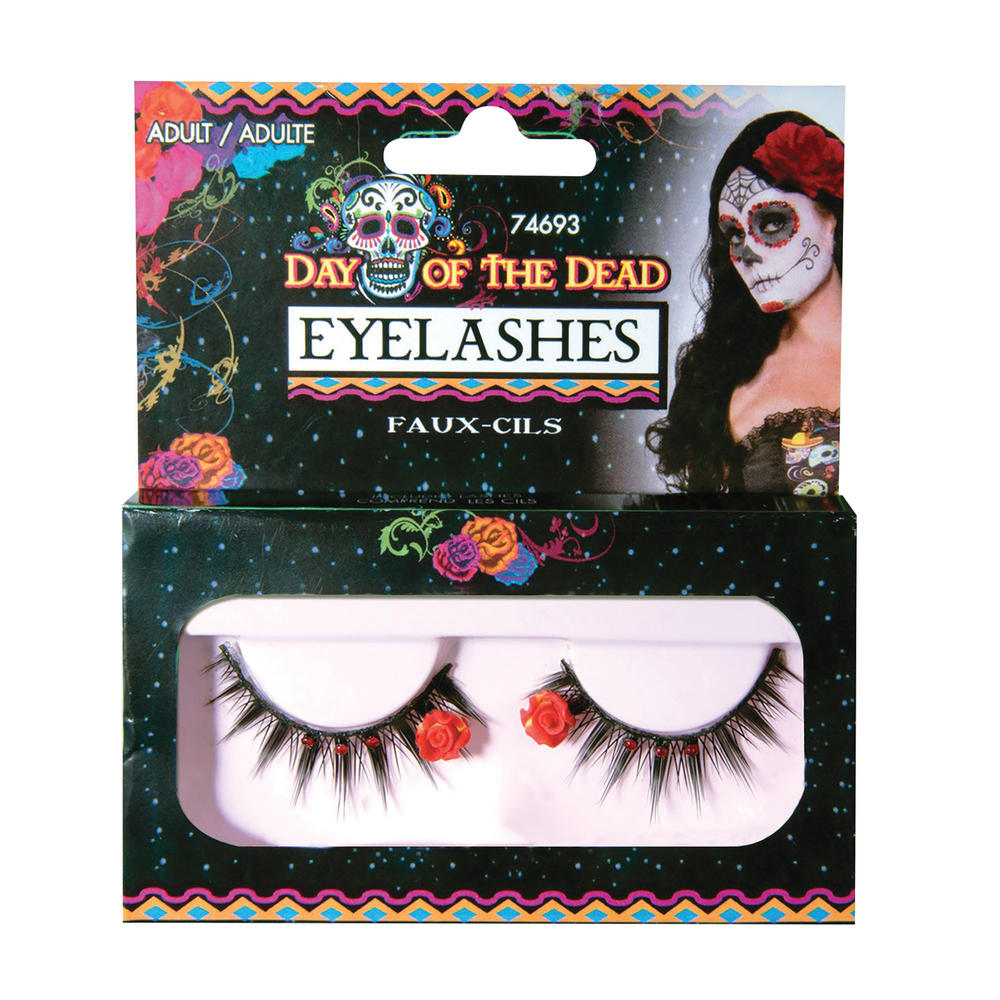 Day of the Dead Eyelashes Accessory for Halloween Carnival Cosplay Fancy Dress