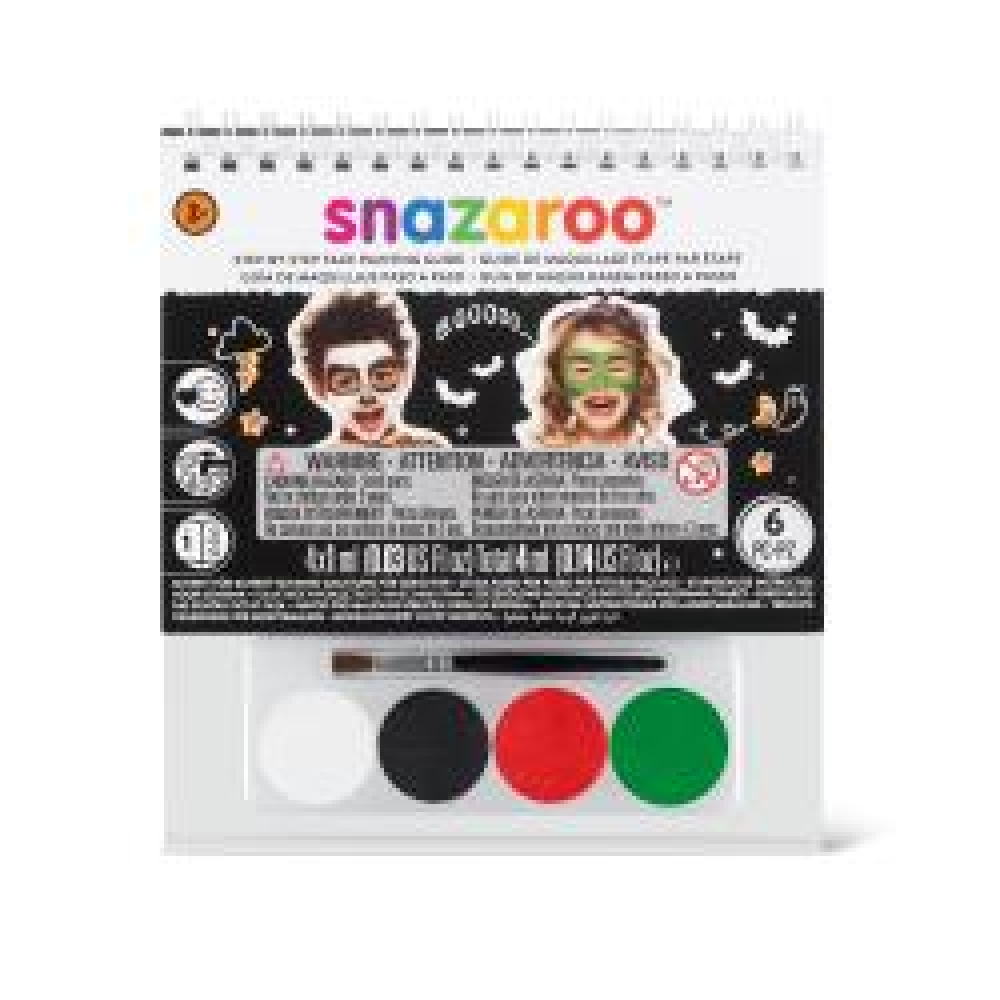 Snazaroo Face Paint A6 Booklet Guide Makeup for Face Body Paint Fancy Dress