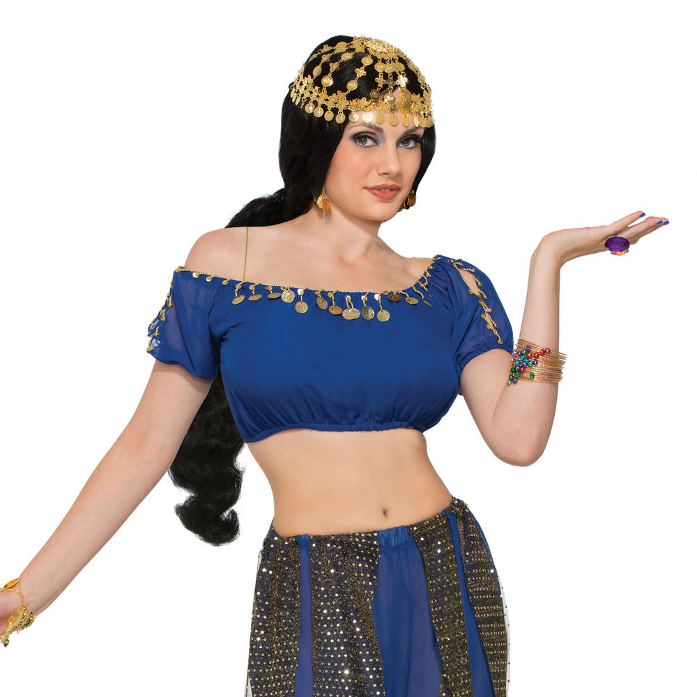 Desert Princess Coin Headpiece Egypt Mexico Middle East Fancy Dress