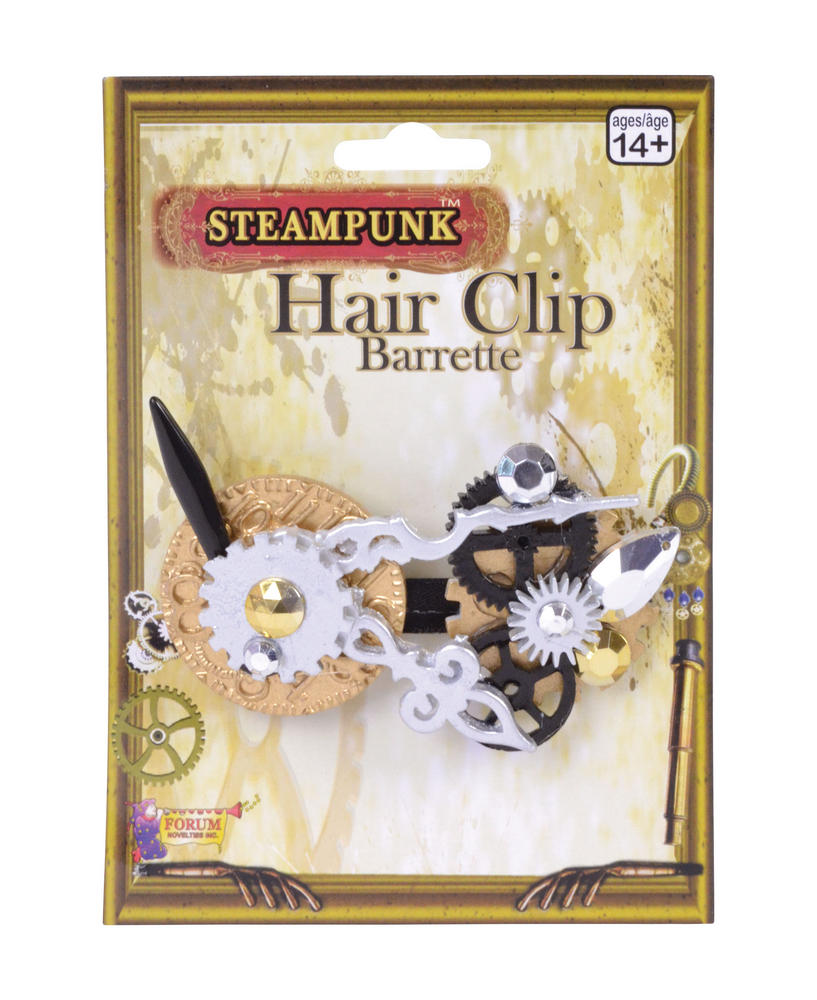 Steampunk Hair Clip Steam Punk Victorian Adventurer Fancy Dress