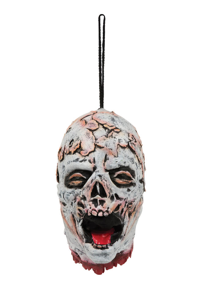 Halloween Melting Skeleton Hanging Head Trick Or Treat Party Decoration