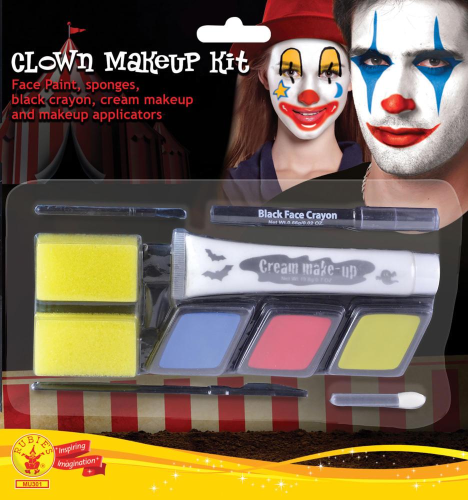Clown Makeup Kit Unisex Circus FunFair Parade Cosmetic Artist