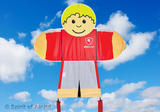 Kids Fly Guys Red Soccer Footballer Boys Kite for Outdoor Camping & Sports Games