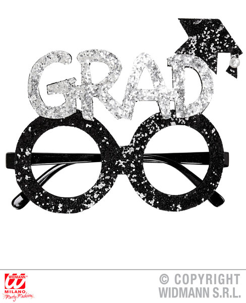 GLITTER GRADUATE GLASSES SFX for School College University Student Cosmetics