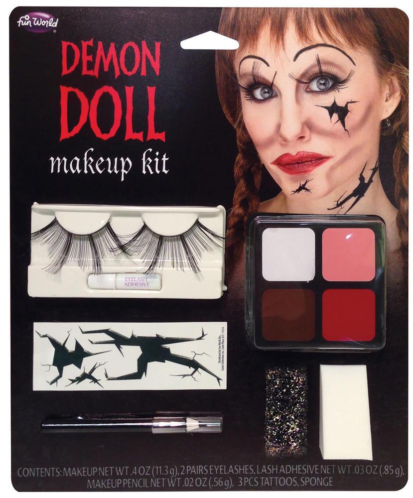 Demon Doll Makeup Kit Devil Satan Lucifer Antichrist Halloween Cosmetic Artist