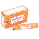 Genuine Indian Satya Nag Champa Incense Joss Sticks - Sandalwood 15g Home Garden